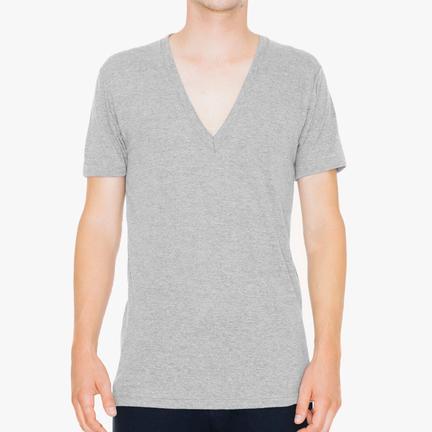 Tri-Blend Deep V-Neck Unisex T-Shirt