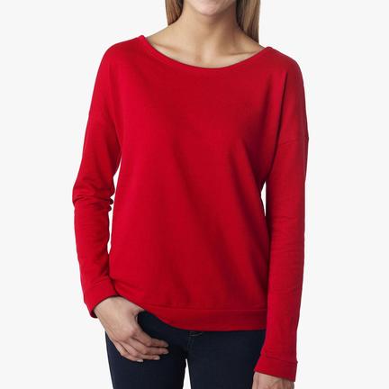 Women's Terry Long Sleeve Scoopneck T-Shirt