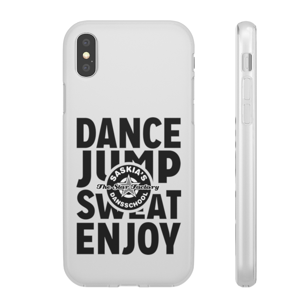 Dance Jump Sweat Enjoy Flexi Phone Case